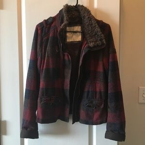 Abercrombie & Fitch plaid jacket size medium